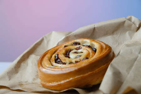 Sweet baked  with raisins