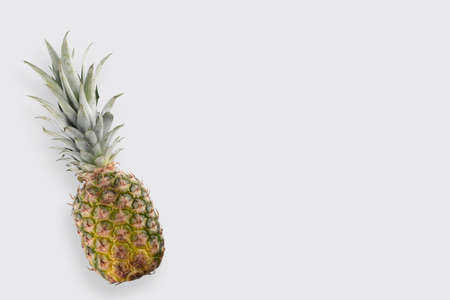 fresh pineapple close-up on a white background