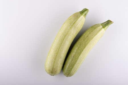 Fresh vegetable marrow. Isolated on white background