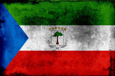 赤道ギニアの国旗は、1979 年 8 月 21 日に採択されました。地図上六つの星は、国の本土と 5 つの島を表します。独裁者 Francisco ンゲマの支配下、フラ 写真素材