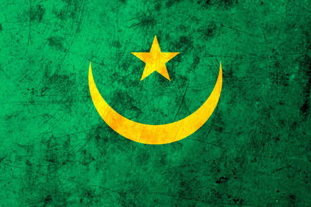 northwest africa: The flag of Mauritania is the common name for the national flag of Mauritania in north-west Africa. The flag was adopted on April 1, 1959. It was introduced under the instructions of Moktar Ould Daddah, and the subsequent constitution of March 22, 1959. Stock Photo