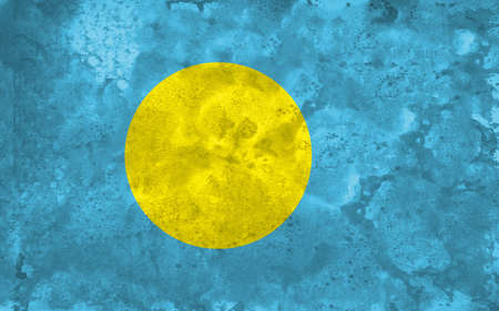 1 place: The flag of Palau was adopted on January 1, 1981, when the island group separated from the United Nations Trust Territory. As with the flags of several other Pacific island groups, blue is the colour used to represent the ocean and the nations place with