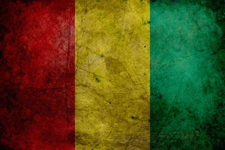 adapted: The flag of Guinea was adopted on November 10, 1958.The colors of the flag were adapted from those of the Rassemblement Democratique Africain, the dominant movement at the time of independence. The colors were in turn derived from those of Ghana, which ha Stock Photo