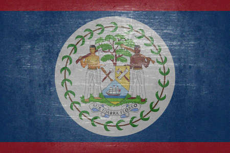 continued: The flag of Belize is a continued version of the earlier flag of British Honduras (the name of Belize during the British colonial period).  British Honduras obtained a coat of arms on January 28, 1907, which formed the basis of the badge used on British e Stock Photo