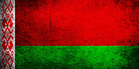 The current national flag of Belarus is a red and green flag with a white and red ornament pattern placed at the staff hoist end. The current design was introduced in 2012 by the State Committee for Standardization of the Republic of Belarus, and is adapt Banco de Imagens