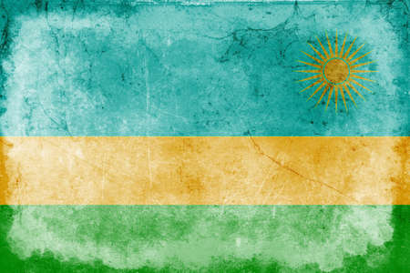 genocide: The flag of Rwanda was adopted on October 25, 2001.It was adopted to avoid connotations to the 1994 genocide. The flag was designed by Alphonse Kirimobenecyo. Stock Photo