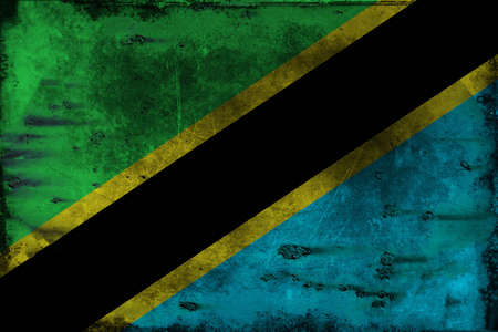ha: The flag of Tanzania consists of a yellow-edged black diagonal band divided diagonally from the lower hoist-side corner, with a green upper triangle and blue lower triangle. Adopted in 1964 to replace the individual flags of Tanganyika and Zanzibar, it ha