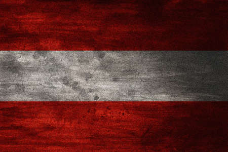 13th: The flag of Austria has three equal horizontal bands of red top, white, and red. The Austrian triband is based on the coat of arms of the Babenberg dynasty, recorded in the 13th century. It may have seen use in flags from about the 15th century, alongside