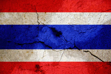 according: The flag of the Kingdom of Thailand shows five horizontal stripes in the colours red, white, blue, white and red, with the central blue stripe being twice as wide as each of the other four. The design was adopted on 28 September 1917, according to the roy