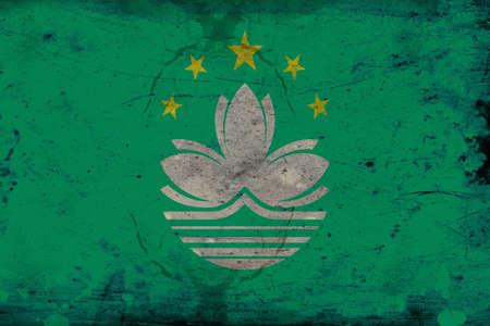 estrellas cinco puntas: La bandera regional de la Región Administrativa Especial de Macao de la República Popular de China, es de color verde claro con una flor de loto encima de la estilizada gobernador Nobre de Puente de Carvalho y el agua en blanco, debajo de un arco de cinco de oro, estrellas de cinco puntas: o