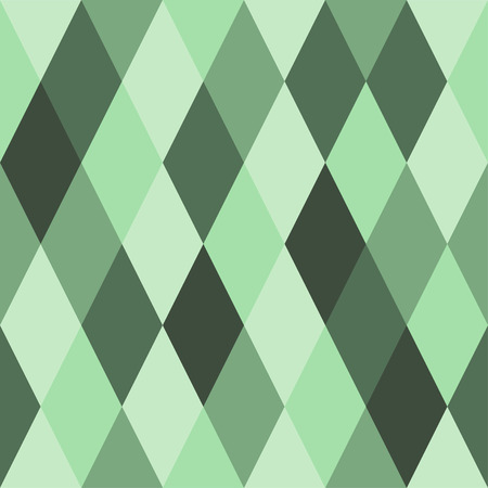 Seamless pattern of rhombuses of green hues. Ð¡haotically colored