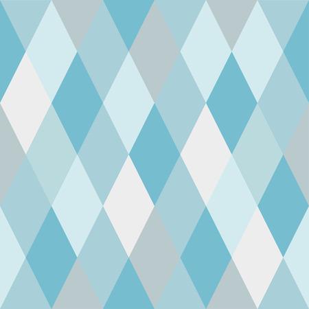 Seamless pattern of rhombuses of light blue and gray hues. Ã�Â¡haotically colored Ilustração