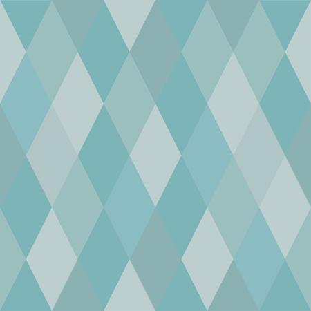 Seamless pattern of rhombuses of light blue hues