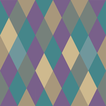 Seamless pattern from rhombuses of different colors. Blue and violet shades Ilustração
