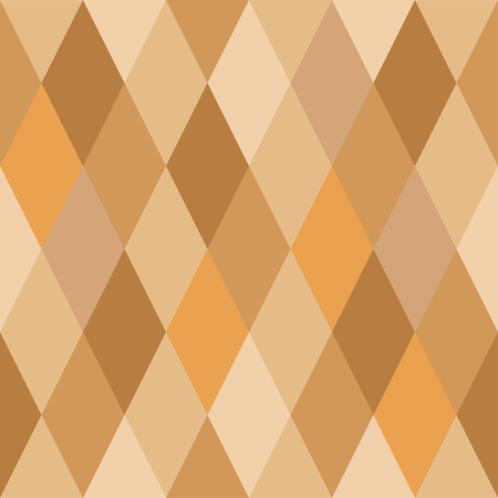 Seamless pattern of rhombuses of golden hues.Simple forms, light autumn shades.