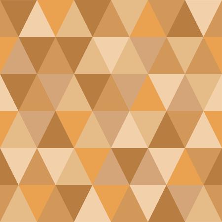Seamless pattern of triangles of autumn hues Illusztráció