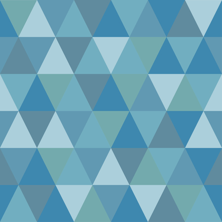 Seamless pattern of triangles of cold winter shades. Simple forms.