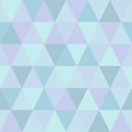 Very light seamless pattern of triangles of cold winter hues Ilustração