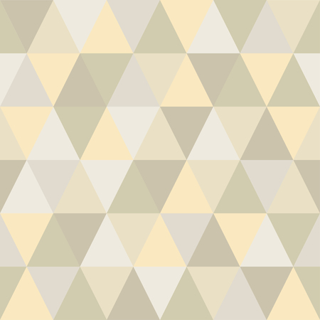 Seamless pattern of triangles is very light and delicate shades. The main shade is beige Ilustração