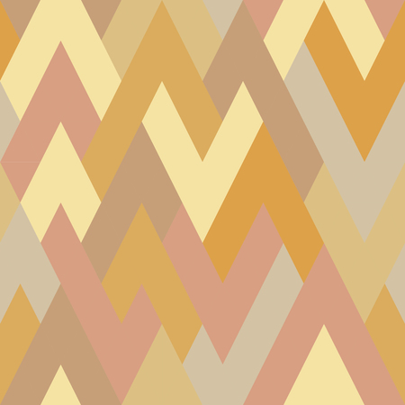 Mosaic pattern of rhombuses in warm tones. Retro style. Seamless pattern. Yellow, orange, beige, ivory 写真素材 - 107528504