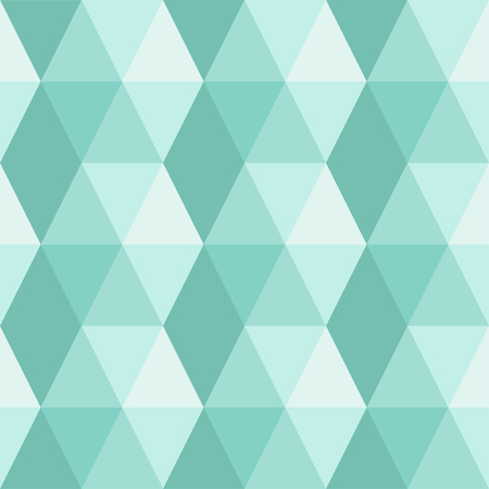 Seamless abstract pattern of triangles and hexagons. Cold colors. Geometric pattern, simple shapes Ilustração