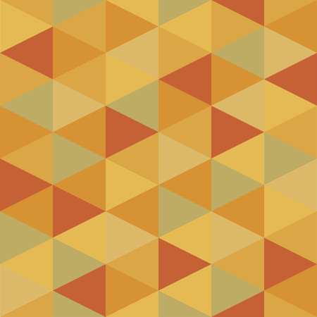 Warm autumn seamless pattern of triangles. Orange and yellow shapes