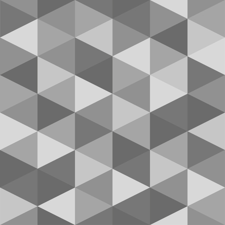 seamless geometric pattern of triangles. Gray shades. The effect of crumpled paper Иллюстрация