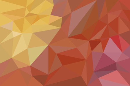 Chaotic background in warm tones. Crumpled paper. Orange, yellow and red Illustration