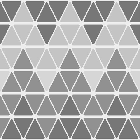 Seamless geometric pattern of rounded triangles. Shades of gray.Zigzag