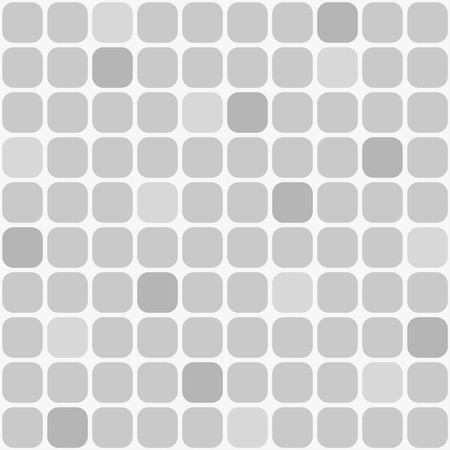 Seamless simple pattern of rounded squares. Shades of gray. Geometric abstract pattern.Background
