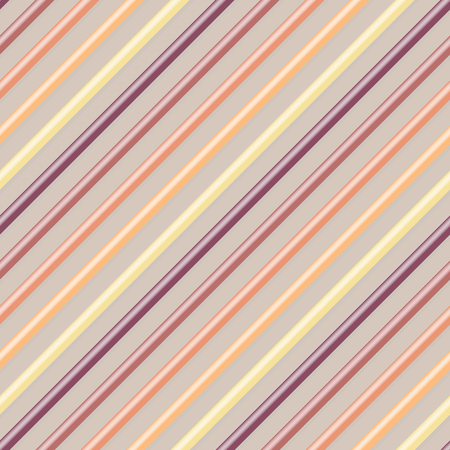 Multicolored diagonal lines with shadow. Seamless pattern. Warm colors inclined parallel lines. Geometric background