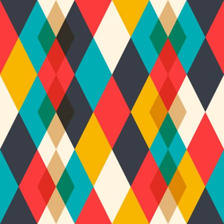 Geometric seamless pattern. Rhombuses of different colors. Repeating, simple abstract background. Geometric shapes, straight lines Foto de archivo - 124533582