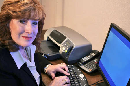 Executive Woman working on computer Stock Photo - 2464227