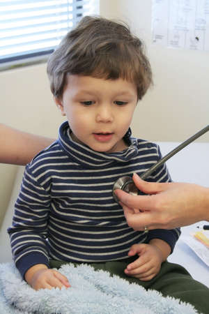 Young child getting a checkup