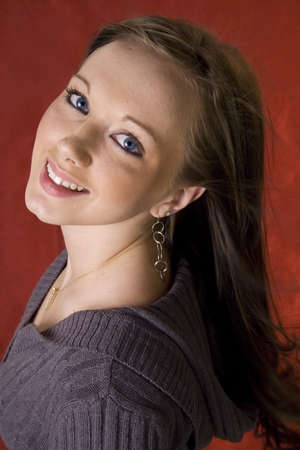 Headshot of pretty young girl Imagens - 2656761
