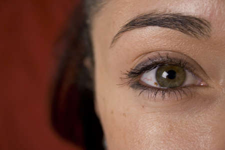 dilate: Close up view of womans eye