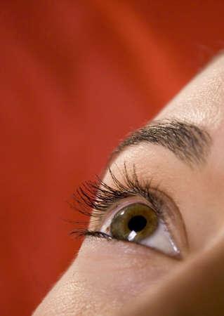 Close up of pretty young eye Фото со стока