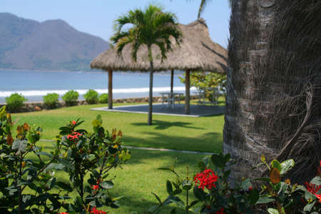 cabana: Beautiful Cabana surounded by flowers and ocean