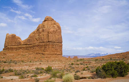 spires: Arches National Park area mountains and spires in Utah USA