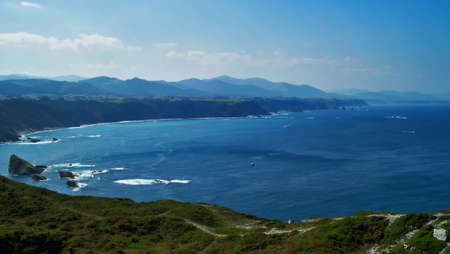 Coastline of Northern Spain and costa Verde in the Bay of Biscay photo