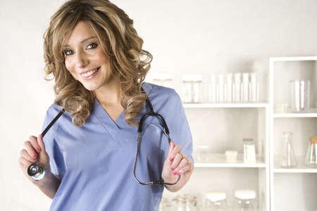 sexy nurse: Beautiful young nurse isolated on white background Stock Photo