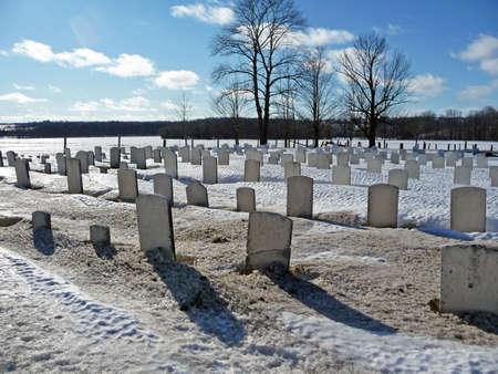 Rural cemetery Фото со стока