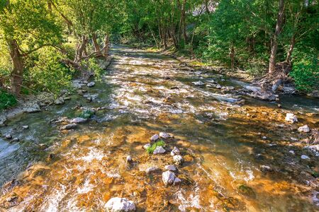 flowing river: flowing river  mountain river