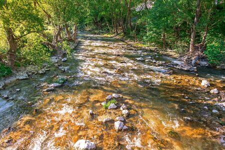 flowing river: r�o que fluye el r�o de monta�a Foto de archivo