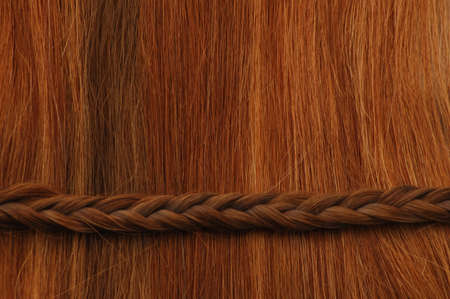 Hair with horizontal braid. Stock Photo