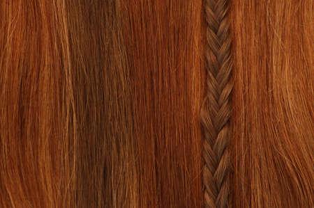 Hair with vertical braid. photo