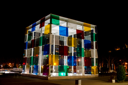 The cube at the Centre Pompidou in Malaga Editorial