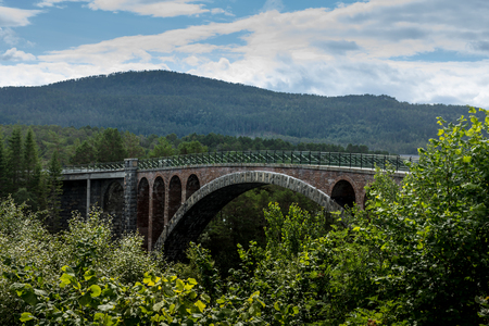 Skodje bridge, an old bridge over Skodjestraumen, in Skodje, Norway, that has now been replaced by a road bridge called Straumsbrua
