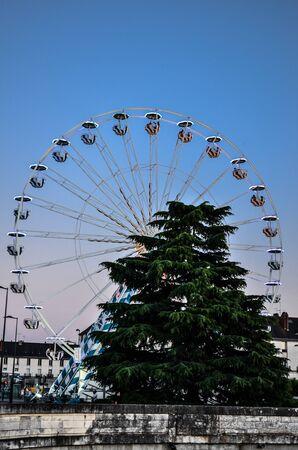 Ferris wheel in Tours, France, at sunset Reklamní fotografie