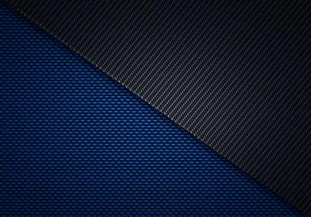Résumé fibre moderne bleu noir de carbone texturé conception du matériel pour le fond, papier peint, la conception graphique Banque d'images